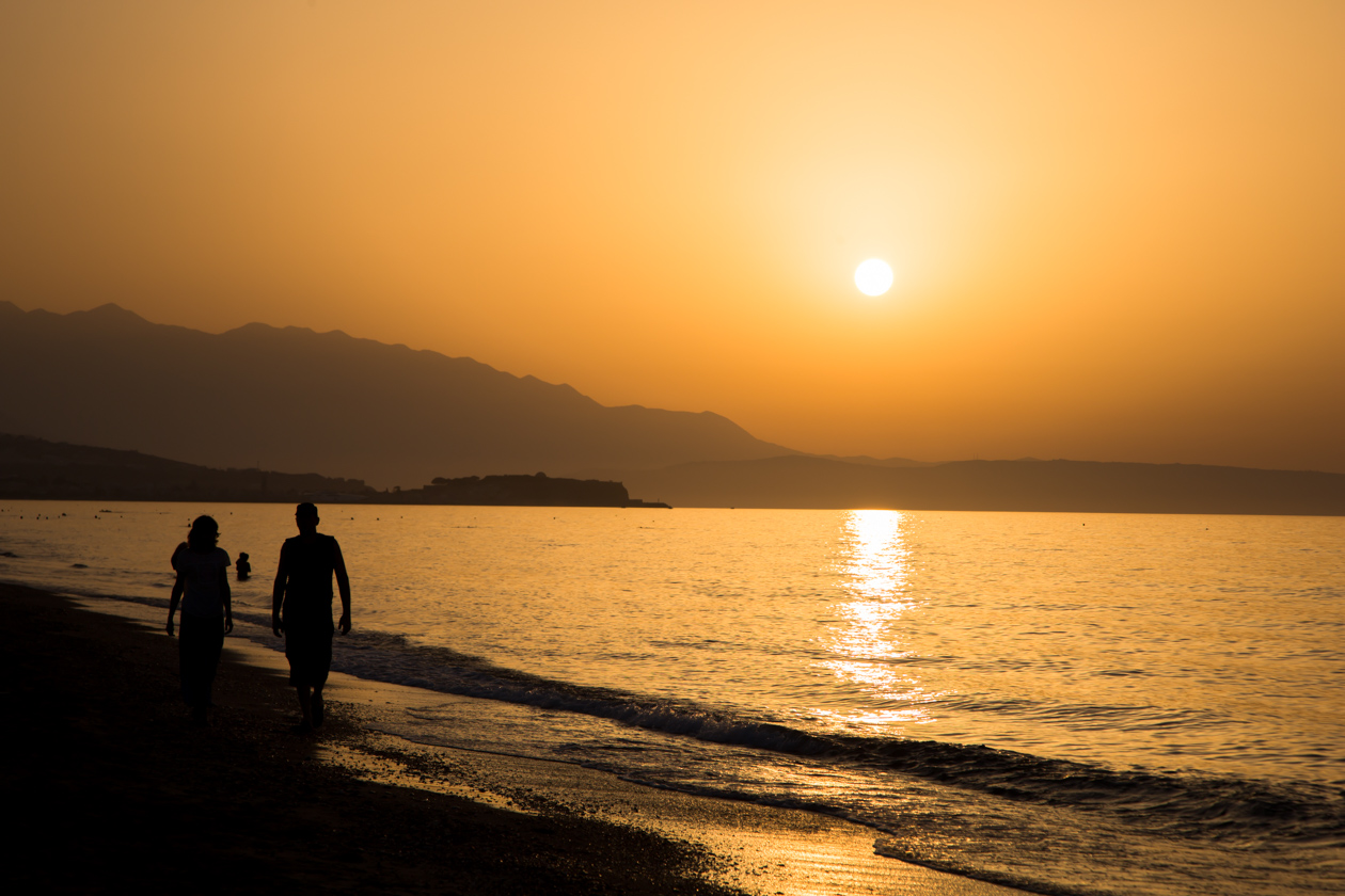 kreta-zonsondergang