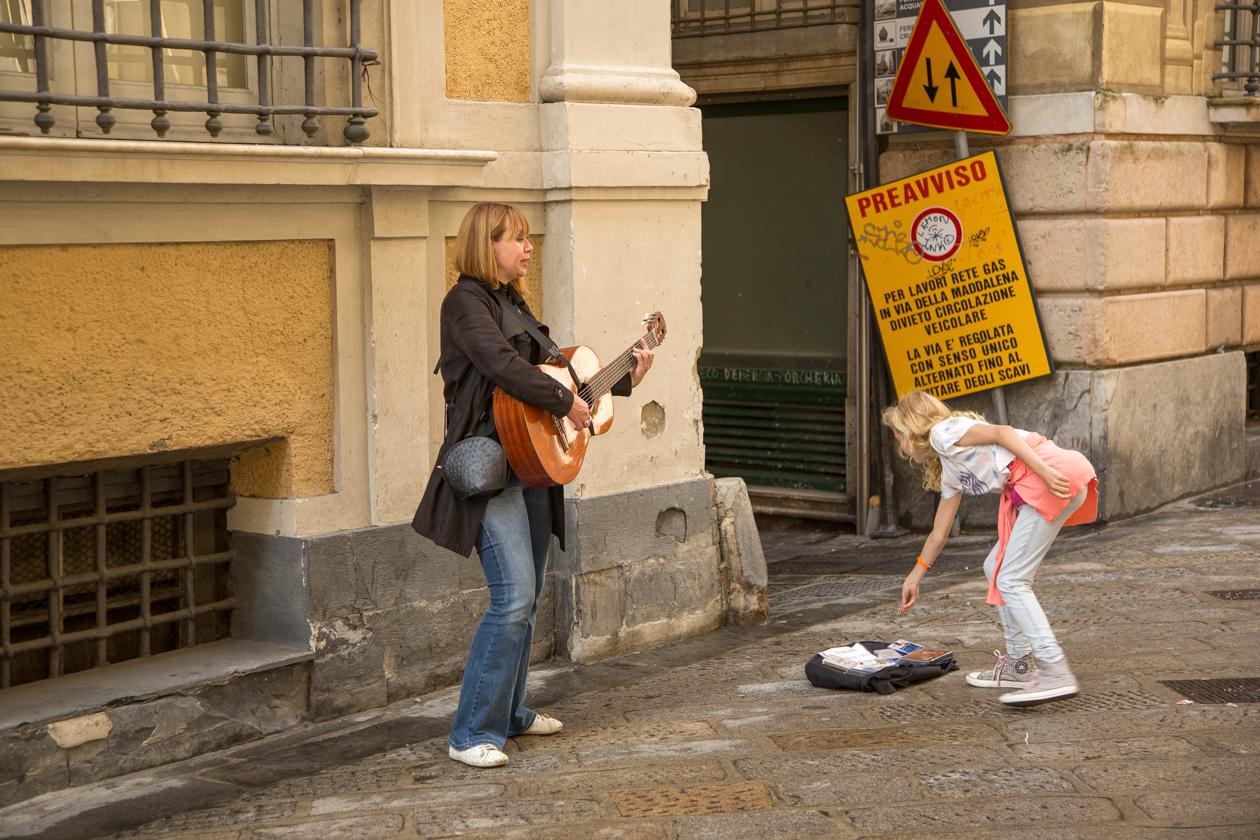 genua-straatmuzikante