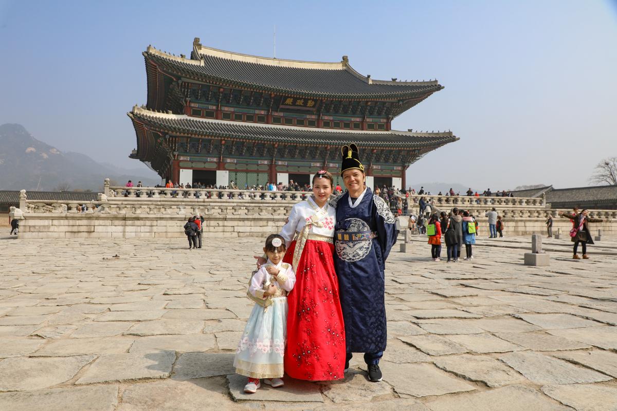 seoul-gezin-voor-gyeongbokgung-palace