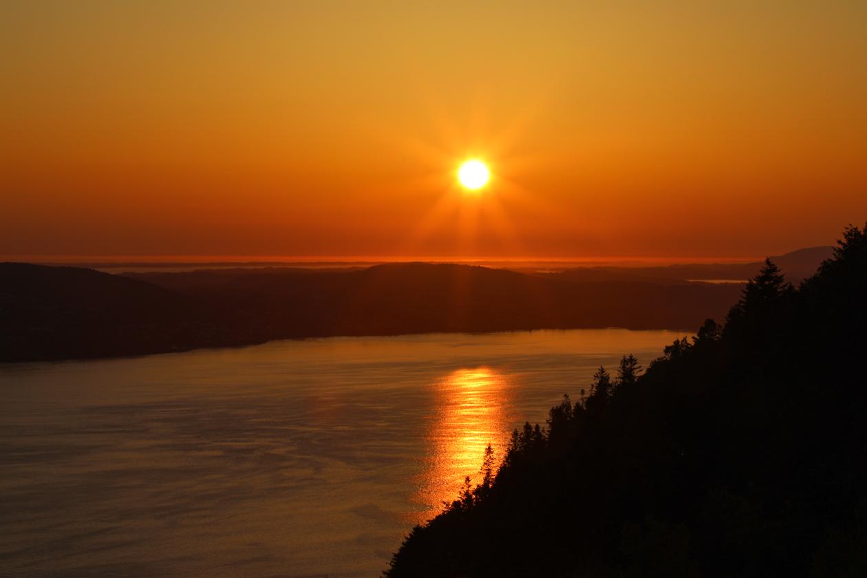 bergen-zonsondergang