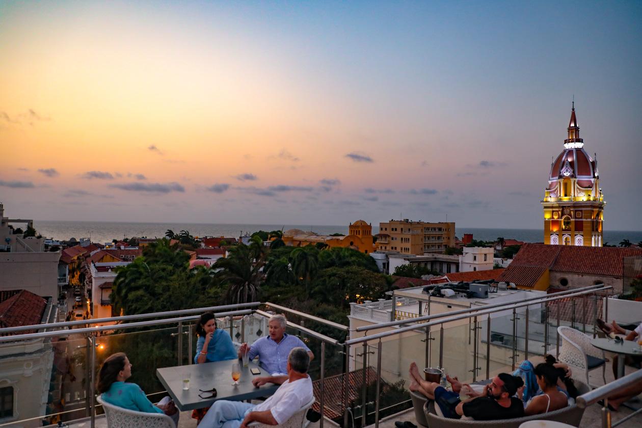 Cartagena na zonsondergang